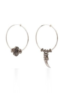 Gucci Anger Forest mismatched hoop clip earrings