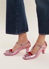 8050fedd5 Gucci Gucci Anita crystal-bow embellished T-bar leather pumps | Shoes