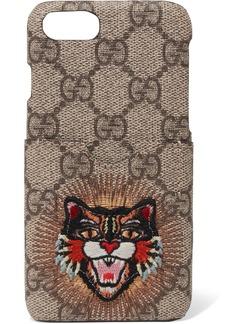 Gucci Appliquéd printed coated-canvas iPhone 7 case
