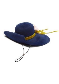 Gucci Aria flower-appliqué felt hat