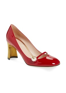 Gucci Arielle Half Moon Heel Pump (Women)