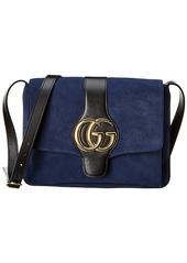 Gucci Aril Medium Suede & Leather Shoulder Bag