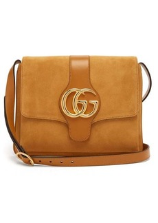 Gucci Arli GG suede and leather cross-body bag