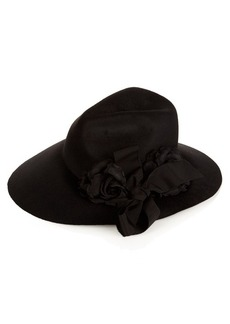 Gucci Asymmetric fur-felt wide-brim hat