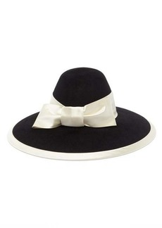Gucci Aurora satin bow-trimmed felt hat