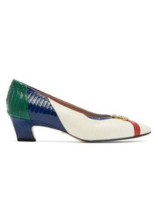 Gucci Axel GG elaphe pumps