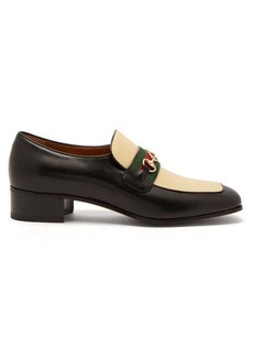 Gucci Aylen GG-Horsebit leather loafers