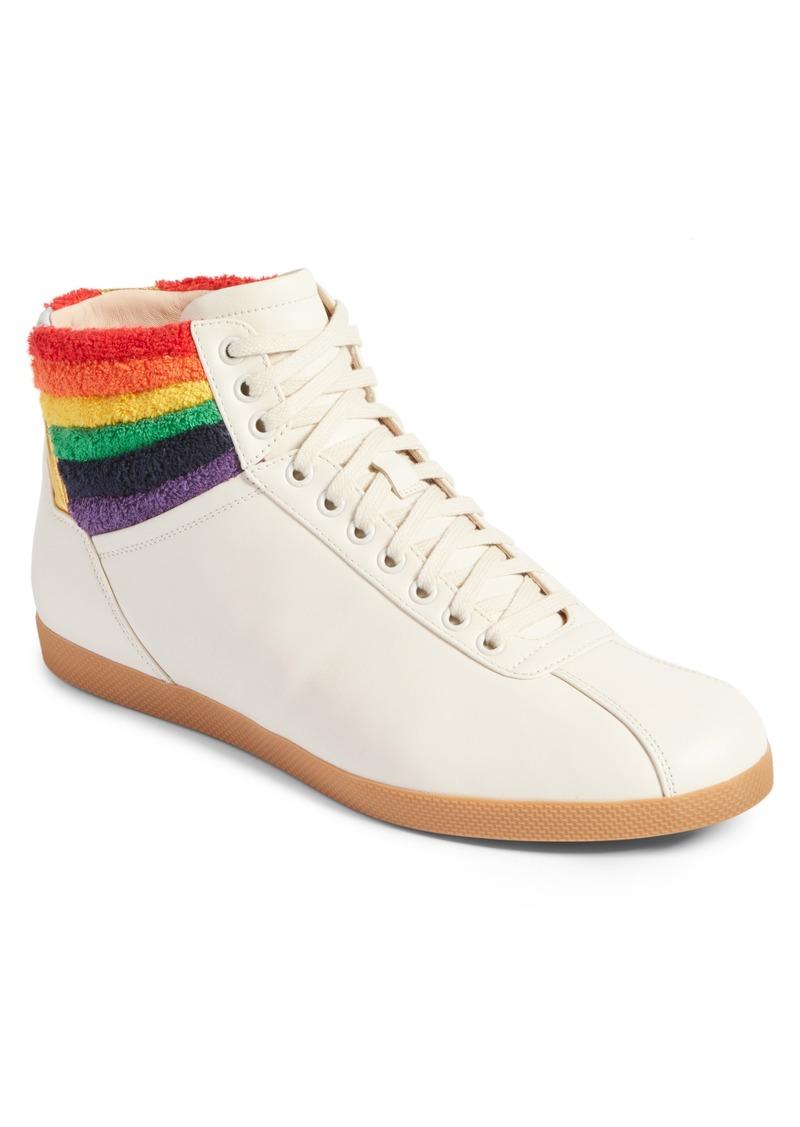 8c9265b09c0 SALE! Gucci Gucci Bambi Rainbow Terry High Top Sneaker (Men)
