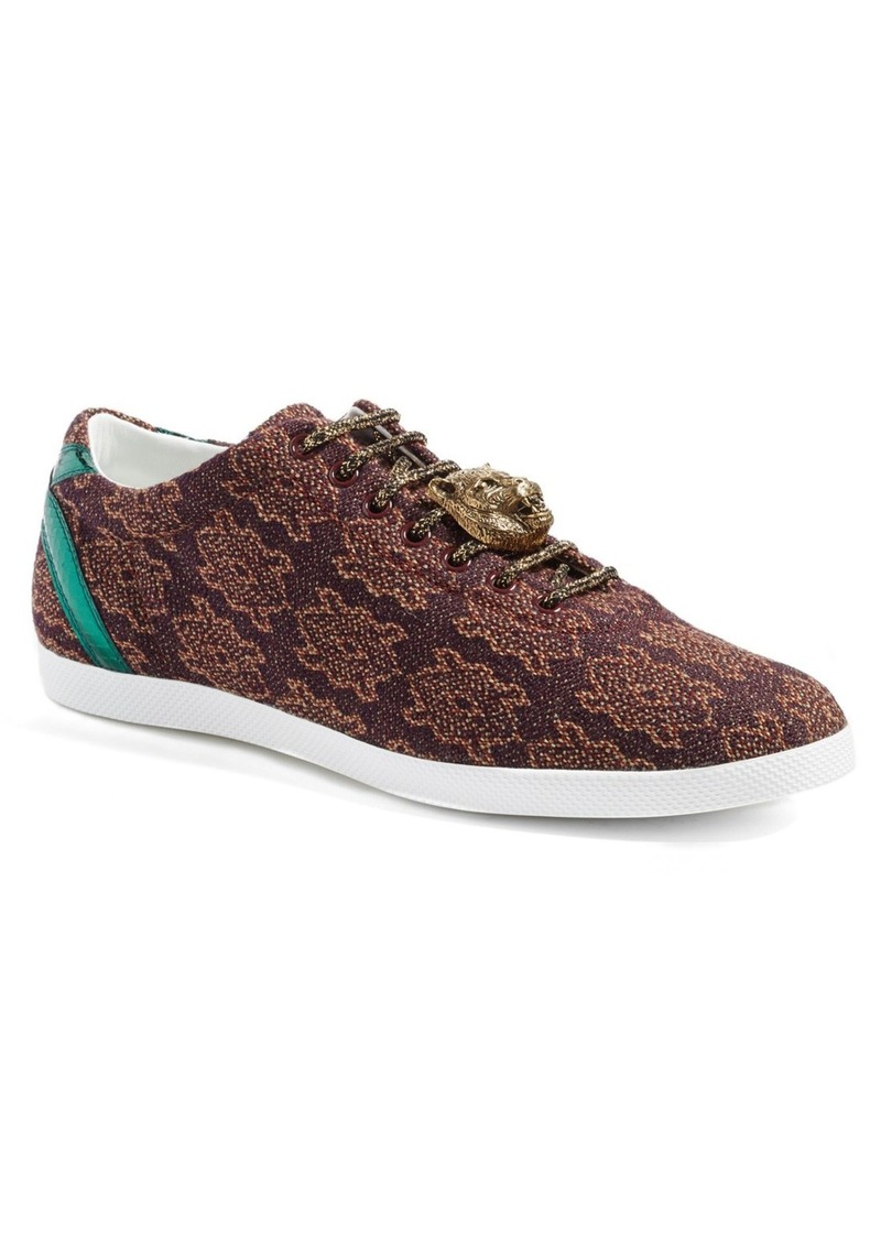 Gucci 'Bambi' Woven Sneaker with Genuine Snakeskin Detail (Men)
