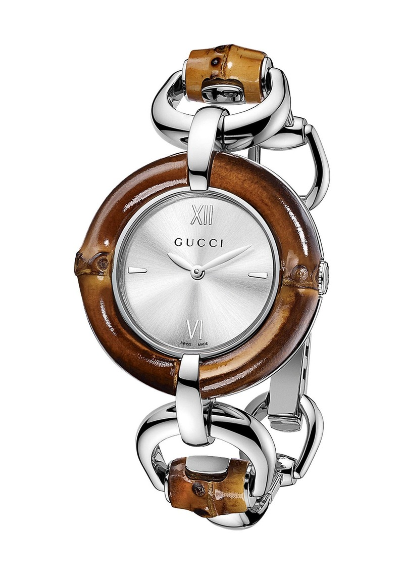 Gucci gucci 39 bamboo 39 bangle watch 35mm regular retail price 1 jewelry for Retail price watches