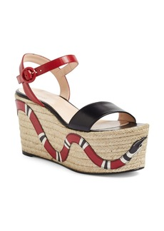 Gucci Barbette Espadrille Wedge Sandal (Women)