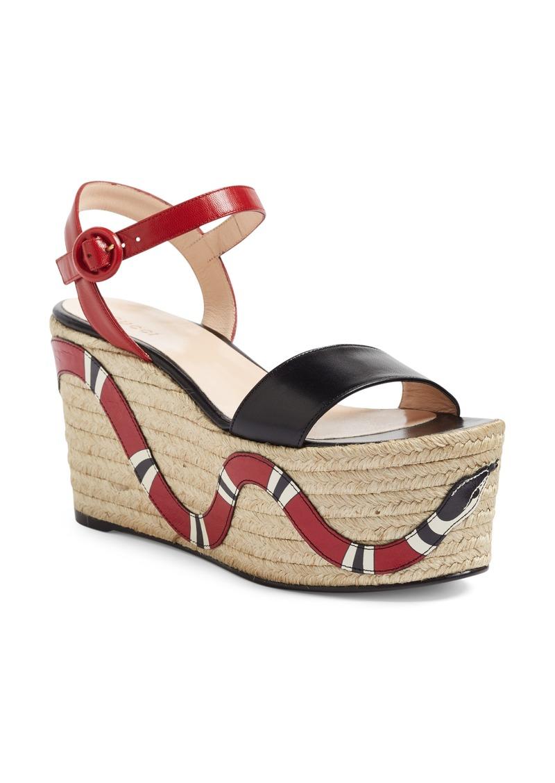 d2aad2e07f04 Gucci Gucci Barbette Espadrille Wedge Sandal (Women)