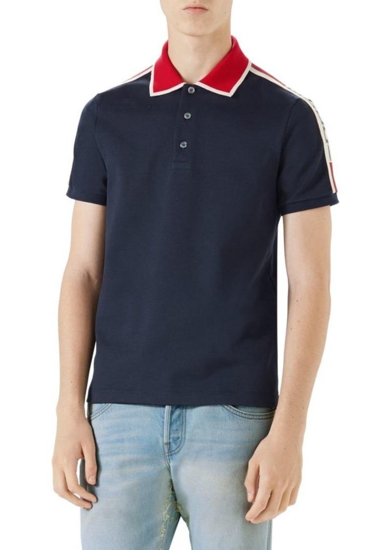 ac8d4efdd Gucci Cotton Polo with Gucci Stripe | Casual Shirts