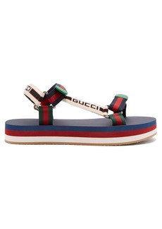 Gucci Bedlam logo-strap sandals