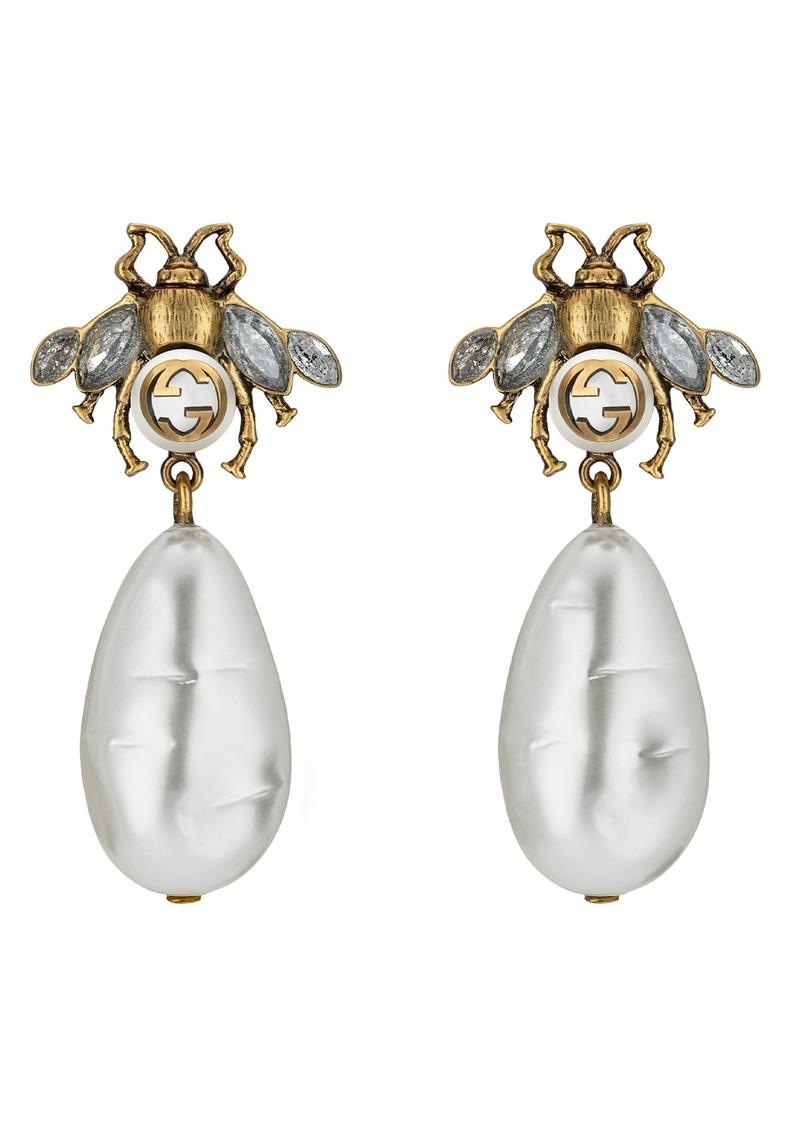 88e459662a8 Gucci Gucci Bee Drop Earrings