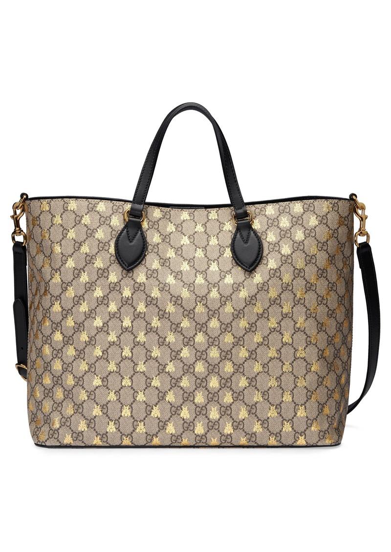 Gucci Gucci Bee Gg Supreme Canvas Tote Handbags