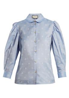 Gucci Bee-jacquard oxford-cotton shirt