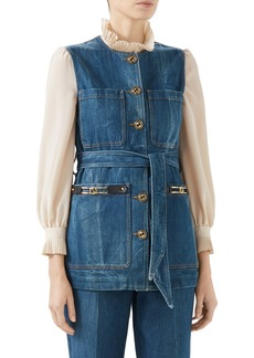 Gucci Belted Denim Vest