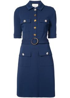 Gucci belted shirt dress - Blue