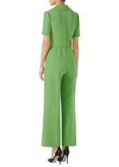 895d84ed12c Gucci Gucci Belted Wide Leg Wool & Silk Cady Jumpsuit   Dresses