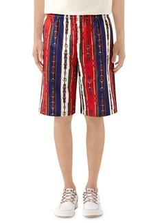 Gucci Belts Print Technical Jersey Shorts