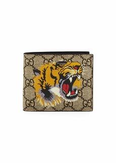 Gucci Bestiary Tiger-Print GG Supreme Wallet