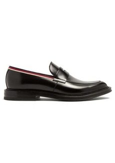 bd6cf169663 Gucci Beyond Web-striped embellished leather loafers