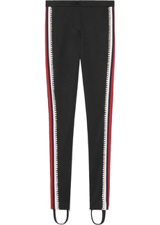 Gucci Black Crystal Stripe Stirrup Track Pants