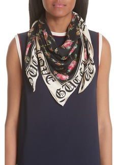 Gucci Blind For Love Rose Foulard Scarf