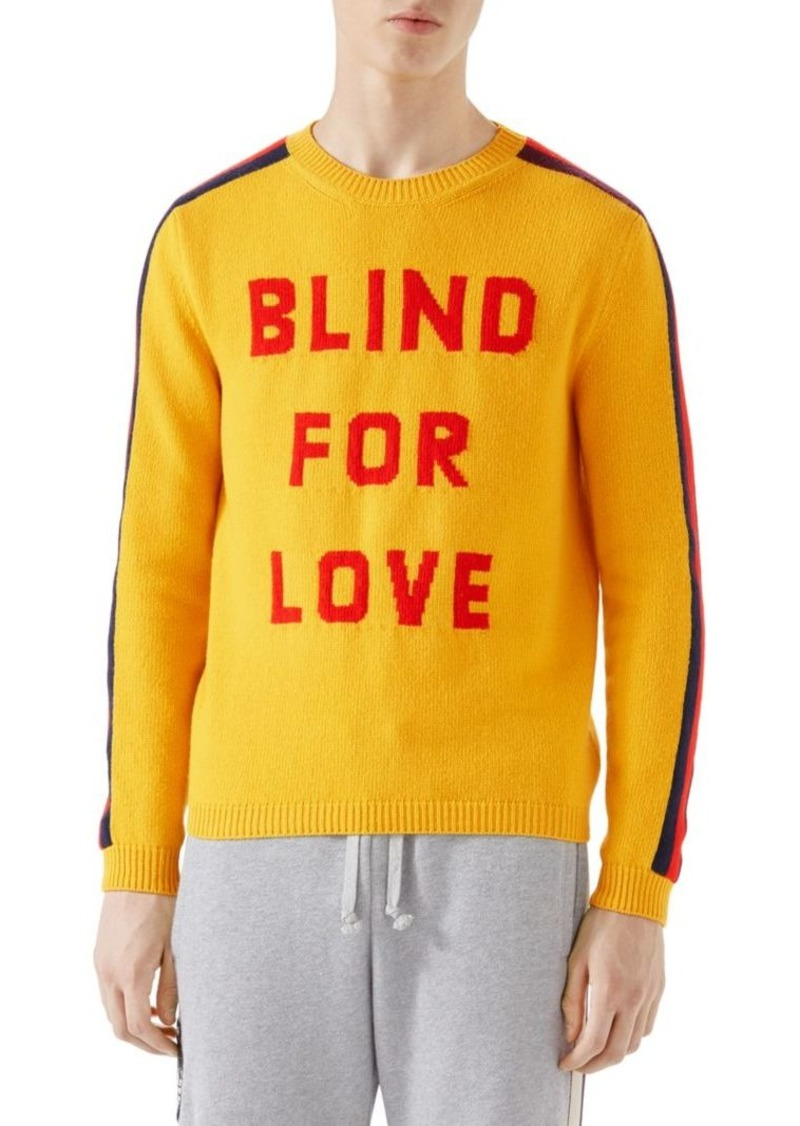 9308097a2 Gucci Blind For Love Wool Sweater