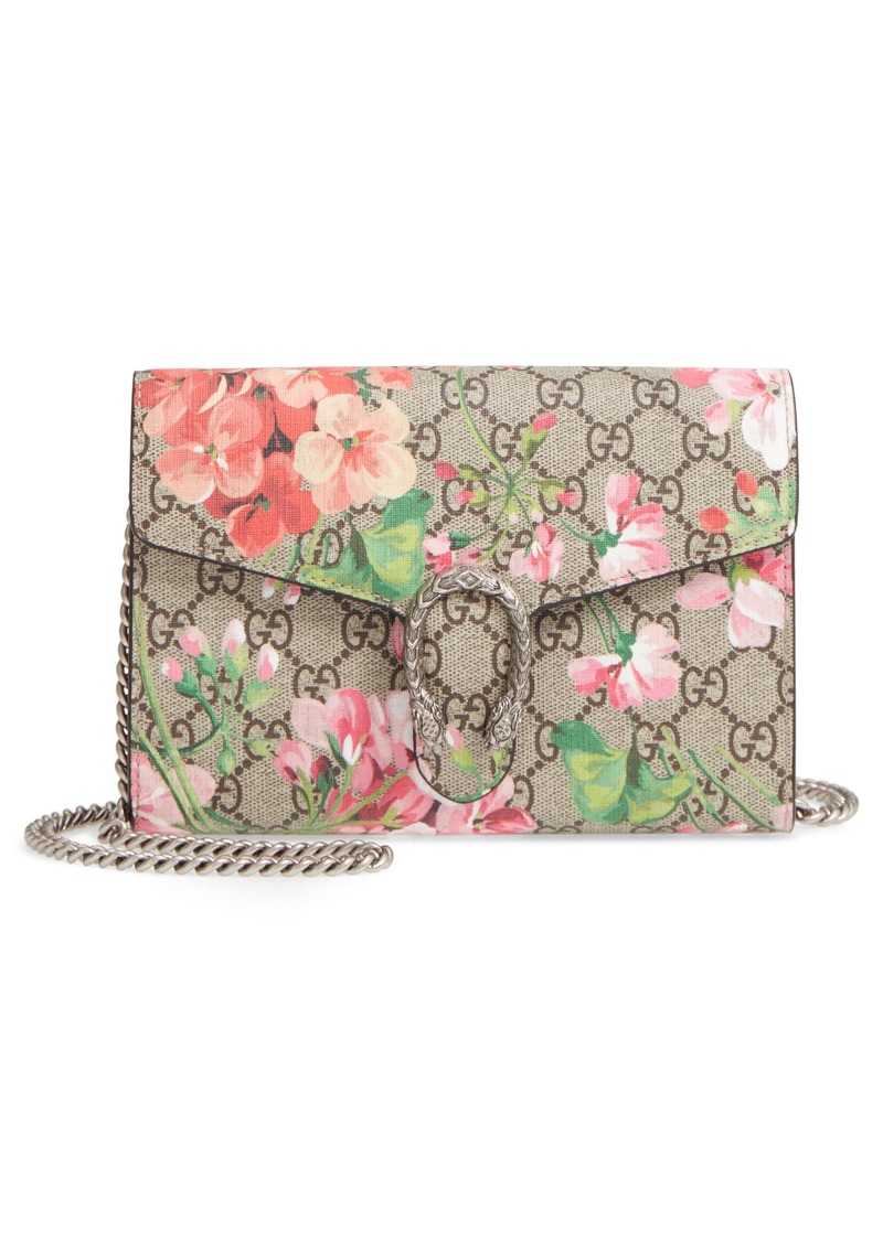 b25610962965 Gucci Gucci Blooms GG Supreme Canvas Wallet on a Chain