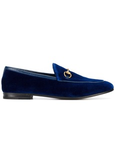 Gucci Blue Jordaan velvet loafers