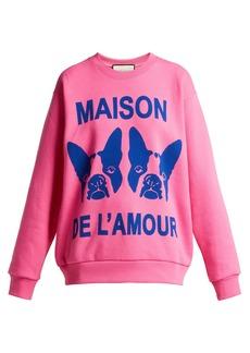 Gucci Bosco and Orso printed cotton-jersey sweatshirt