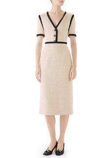 Gucci Bouclé Tweed Dress
