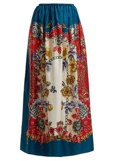 Gucci Boudoir floral-print silk-twill maxi skirt