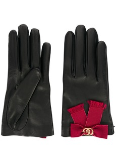 Gucci bow-embellished gloves