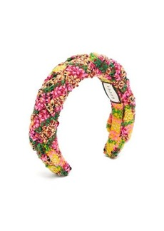 Gucci Braided wool-blend tweed headband