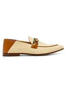 Gucci Brixton collapsible-heel canvas loafers