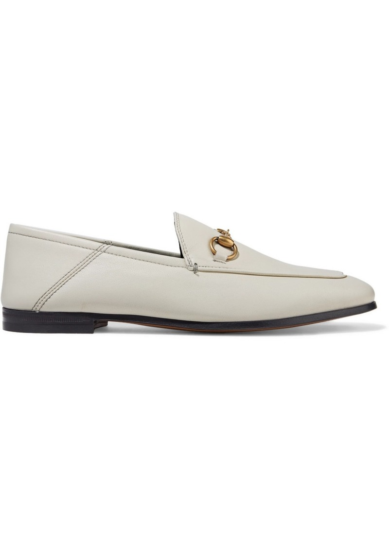 be87f494ec47 Gucci Brixton horsebit-detailed leather collapsible-heel loafers