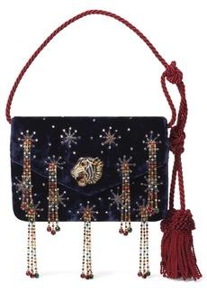 Gucci Broadway Crystal Embellished Velvet Evening Bag