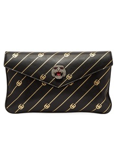 Gucci Broadway GG-embossed leather clutch