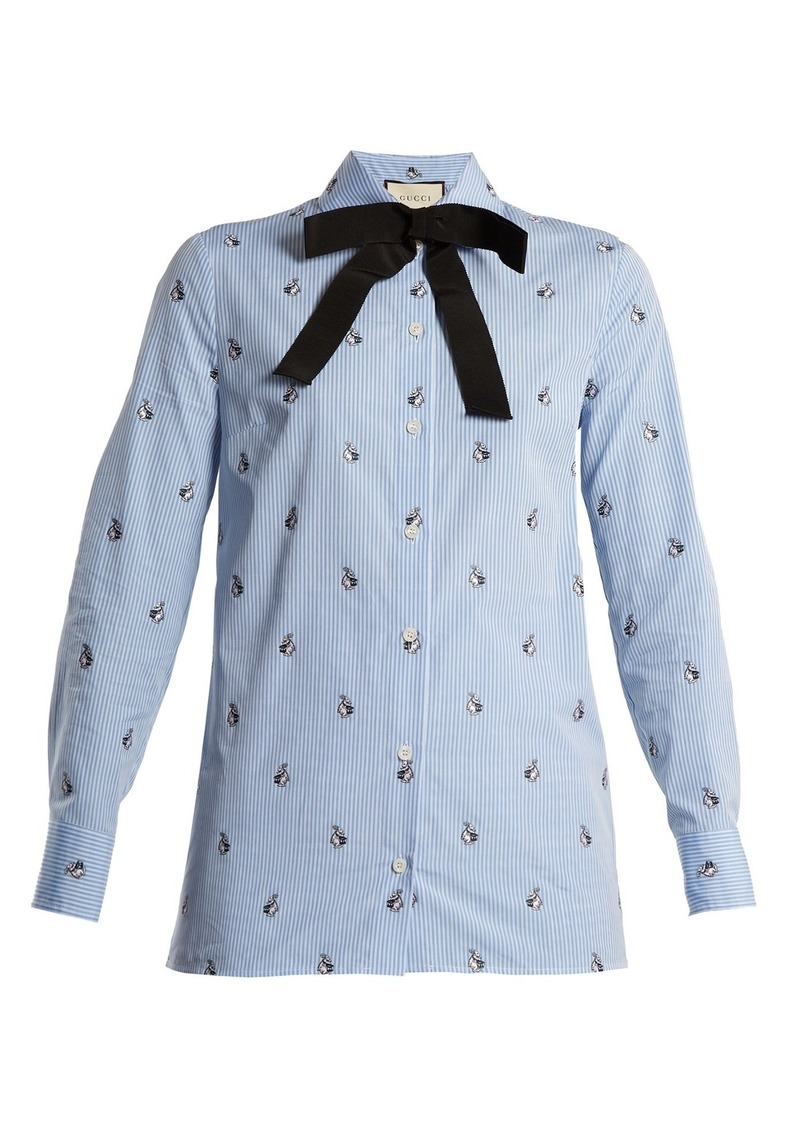 b9f8201b3 Gucci Gucci Bunny fil coupé striped cotton shirt | Casual Shirts