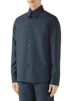 Gucci Button-Up Military Drill Shirt