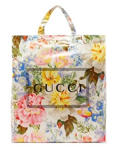 Gucci Cabas floral-print coated canvas tote bag