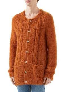 Gucci Cable Mohair Blend Cardigan