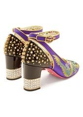 ee6f2eeabf3 Gucci Gucci Caspar dragon-embroidered satin pumps