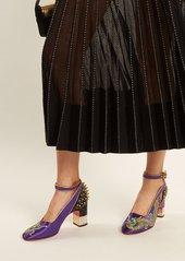 4e5e8d4b450 ... Gucci Caspar dragon-embroidered satin pumps ...