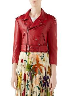 Gucci Chateau Marmont Embellished Leather Biker Jacket