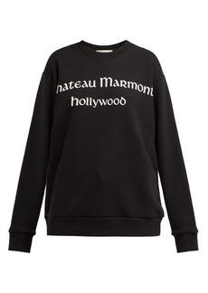 Gucci Chateau Marmont-print cotton sweatshirt