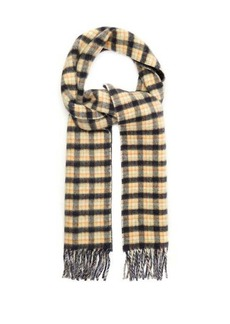 Gucci Checked GG-jacquard wool scarf